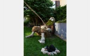 """Benjamin Gazsi, """"Earth Giant."""" Photo courtesy of ArtPrize"""