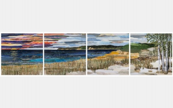 "Ann Loveless' ""Sleeping Bear Dune Lakeshore."" Photo courtesy of ArtPrize"