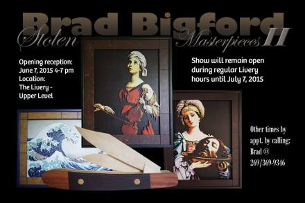 "Brad Bigford, ""Stolen Masterpieces"" currently featured at The Livery Brewery in Benton Harbor."