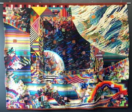 Worlds in Collision, tapestry by David Johnson and Geary Jones