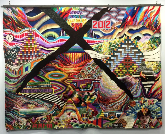 2012X, tapestry by David Johnson and Geary Jones