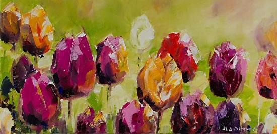 Alla Dickson Merlot Tulips