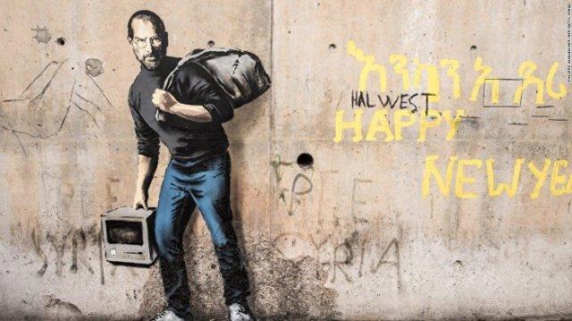 Steve Jobs by Banksy